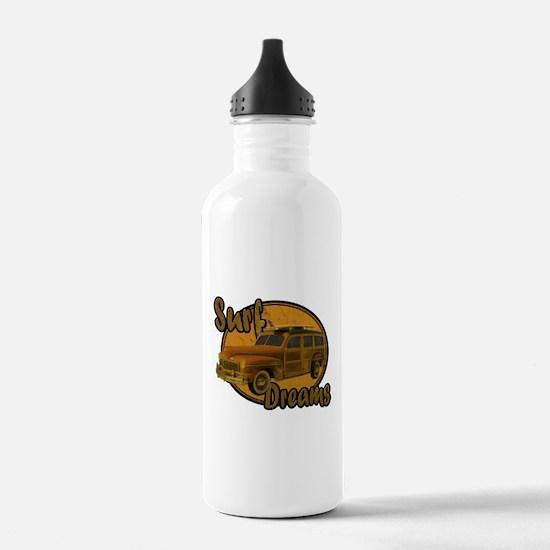 Surf Dreams Woodie Wagon Water Bottle