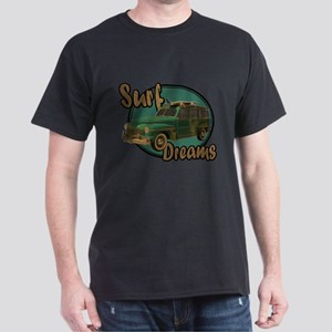 California Surf Dreams Woody Dark T-Shirt