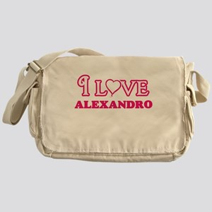 I Love Alexandro Messenger Bag