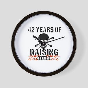 42 Years of Raising Hell Wall Clock