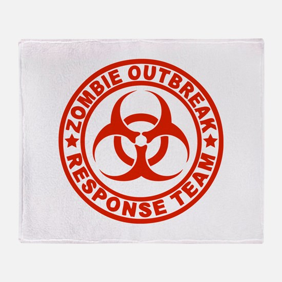 Zombie Outbreak Response Team Throw Blanket