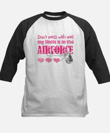 Don't Mess with Me (Air Force Kids Baseball Jersey