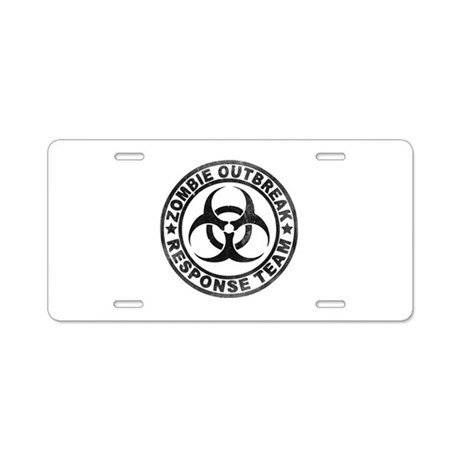 Zombie Outbreak Response Team Aluminum License Pla by