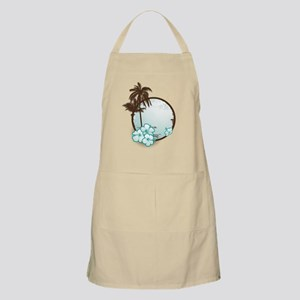 Tropical Circle with hibiscus Apron