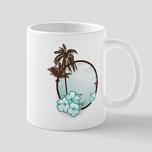 Tropical Circle with hibiscus Mug