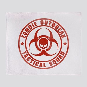 Zombie Outbreak Technical Squad Throw Blanket