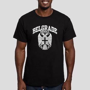 Belgrade Serbia Men's Fitted T-Shirt (dark)