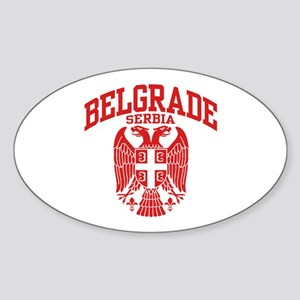 Belgrade Serbia Sticker (Oval)