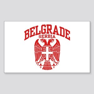 Belgrade Serbia Sticker (Rectangle)