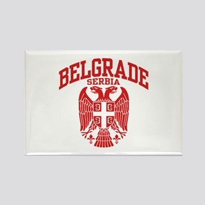 Belgrade Serbia Rectangle Magnet