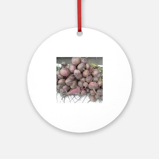 Unique Farmers market Round Ornament