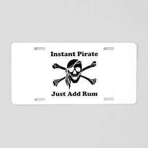 Instant Pirate Aluminum License Plate