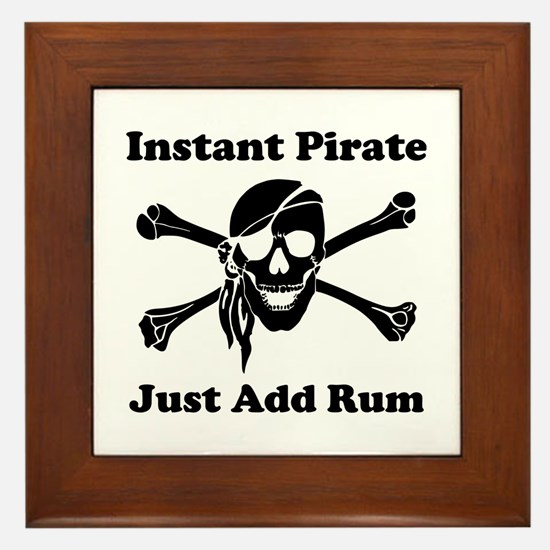 Instant Pirate Framed Tile