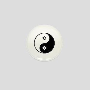 YinYang Paws Mini Button