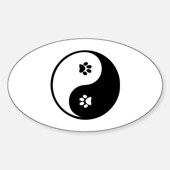YinYang Paws Sticker (Oval)