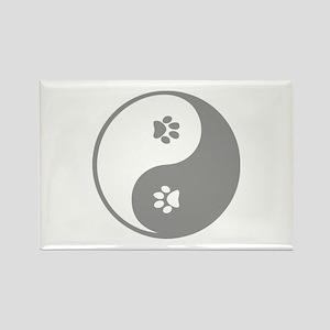 YinYang Paws Rectangle Magnet