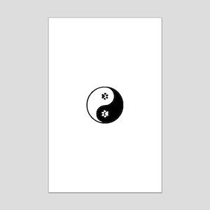 YinYang Paws Mini Poster Print