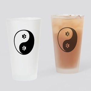 YinYang Paws Drinking Glass