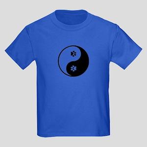 YinYang Paws Kids Dark T-Shirt