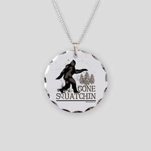 Gone Squatchin Necklace Circle Charm