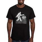 Gone Squatchin Men's Fitted T-Shirt (dark)
