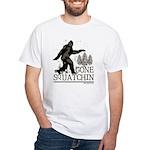 Gone Squatchin White T-Shirt