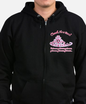 It's a tiara! Zip Hoodie (dark)
