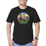 StFrancis-Pony Men's Fitted T-Shirt (dark)