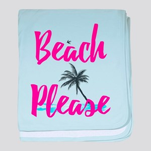 Beach Please baby blanket