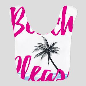 Beach Please Polyester Baby Bib