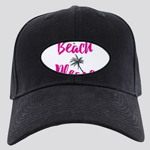 Beach Please Black Cap with Patch