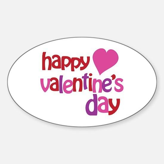 Happy Valentine's Day Sticker (Oval)