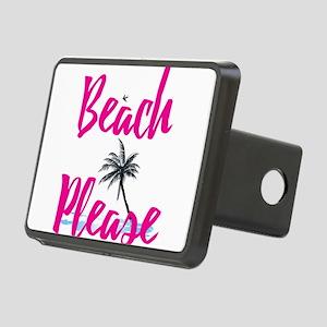 Beach Please Rectangular Hitch Cover