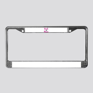 Beach Please License Plate Frame
