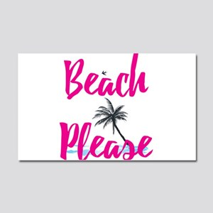 Beach Please Car Magnet 20 x 12