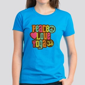 Peace Love Yoga Women's Dark T-Shirt