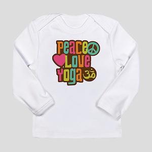 Peace Love Yoga Long Sleeve Infant T-Shirt