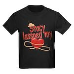 Stacy Lassoed My Heart Kids Dark T-Shirt