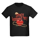 Stacy Lassoed My Heart Kids Dark T-Shirt