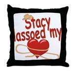 Stacy Lassoed My Heart Throw Pillow