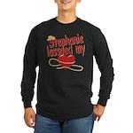 Stephanie Lassoed My Heart Long Sleeve Dark T-Shir