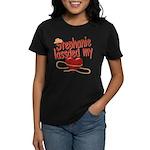Stephanie Lassoed My Heart Women's Dark T-Shirt