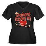 Stephanie Lassoed My Heart Women's Plus Size V-Nec