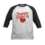 Stephanie Lassoed My Heart Kids Baseball Jersey