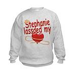 Stephanie Lassoed My Heart Kids Sweatshirt