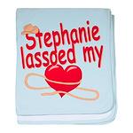Stephanie Lassoed My Heart baby blanket