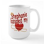 Stephanie Lassoed My Heart Large Mug