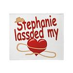 Stephanie Lassoed My Heart Throw Blanket