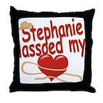 Stephanie Lassoed My Heart Throw Pillow