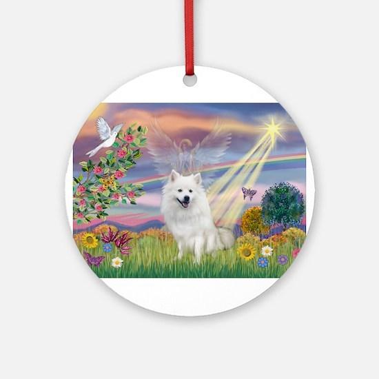Cloud Angel / Eskimo Ornament (Round)
